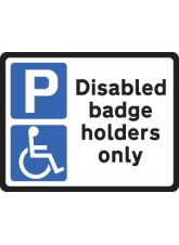 Disabled Badge Holders - Class R2 Permanent - 320 x 250mm