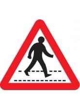 Pedestrians Crossing Ahead Class - RA1 600mm