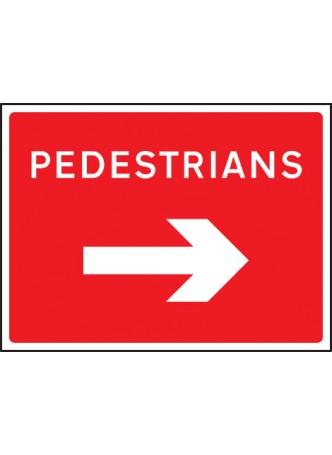 Pedestrians Arrow Right - Class RA1 - 1050 x 750mm