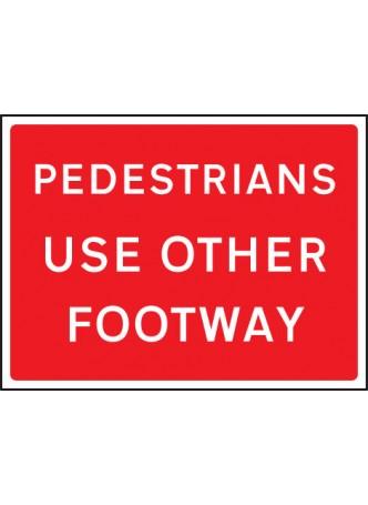Pedestrians use Other Footway - Class RA1 - 600 x 450mm