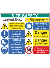 Site Safety Board - 3mm PVC - 1200 x 1000mm