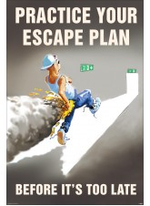 Practice Your Escape Plan Poster