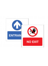 Entrance / No Exit Double Sided Window Sticker