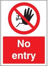 A4 No Entry