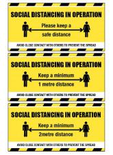 Social Distancing Banner - 1m / 2m / Generic Distance Options