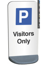 Eco Friendly Temporary Sign - Visitors Parking Only