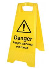 Danger People Working Overhead (Free-Standing Floor Sign)
