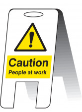 Caution People at Work (Lightweight Standing Folding Sign)