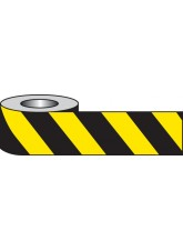 Black & Yellow Non-adhesive Barrier Tape
