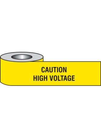 Caution High Voltage Barrier Tape