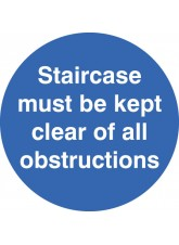 Staircase Must be Kept Clear - Floor Graphic