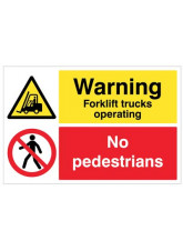 Floor Graphic - Warning Forklift Trucks Operating - No Pedestrians
