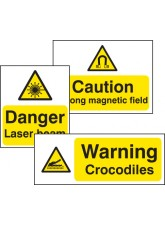 Standard Special Warning Sign - Self-adhesive Vinyl