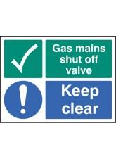 Gas Mains Shut Off Valve Keep Clear
