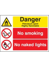 Petroleum Spirit No Smoking No Naked Lights