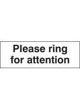Please Ring for Attention