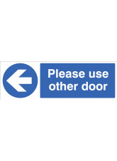 Please Use other Door - Arrow Left