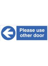 Please use other door - Arrow Left