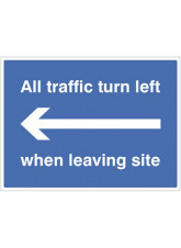 All Traffic Turn Left when Leaving Site