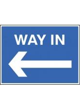 Way in - Arrow Left
