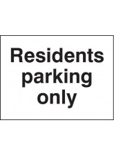 Residents Parking Only