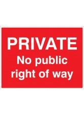 Private - No public right of way