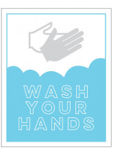 Wash Your Hands - Blue