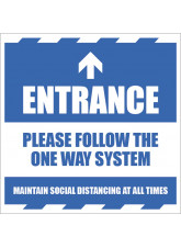 Entrance - Arrow Up - Follow the One Way System