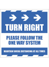 Turn Right - Arrow Right - Follow the One Way System