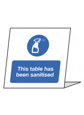 This Table has been Sanitised - Single Sided Table Card